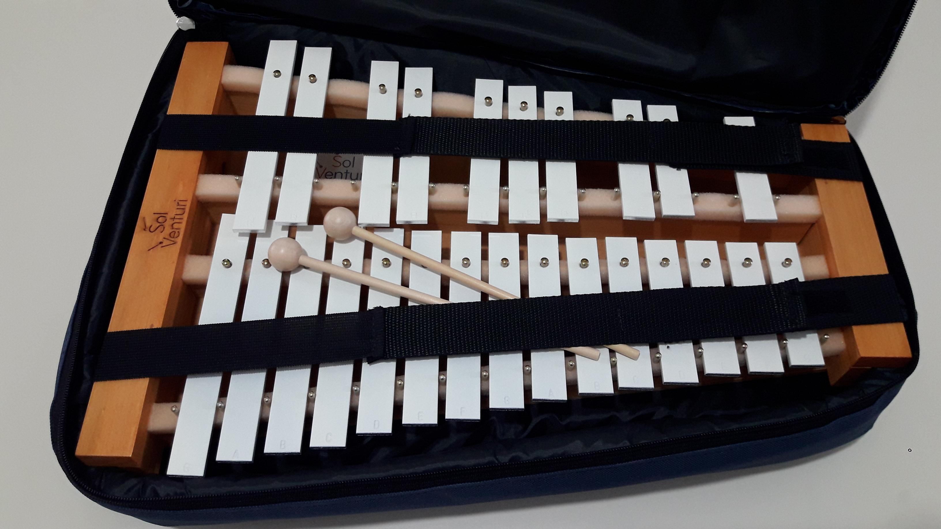 Metalofón Cromático de 25 notas - Con Funda 1